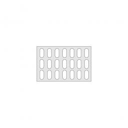 Gitterregalboden aus Kunststoff (Polystyrol), BxT 750x480 mm, bestehend aus 2 Bodensegmenten