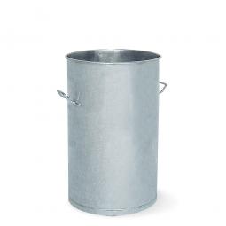 Stahl-Mülltonne, Volumen 60 Liter, feuerverzinkt, HxØ 630x380 mm, 2 Tragegriffe
