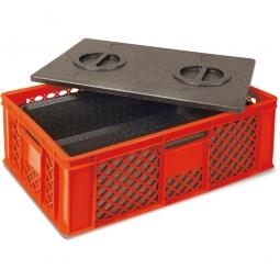 Eurobehälter mit EPP-Isolierbox, LxBxH 600 x 400 x 320 mm, 20 Liter, rot
