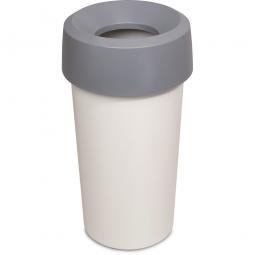 Wertstoffsammler, rund, ØxH 390 x 730 mm, 50 Liter, grau
