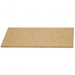 Holzboden aus Spanplatte V20 - E1, naturbelassen, Nutzmaß LxTxH 3270 x 1095 x 38 mm (2-teilig), Tragkraft 945 kg