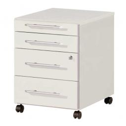 """Rollcontainer """"Uno plus""""  mit 4 Schubladen, lichtgrau, BxTxH 430x500x550 mm"""