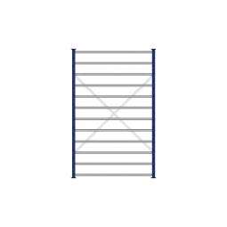 Fächerregal Flex, Stecksystem, kunststoffbeschichtet, BxTxH 1270 x 415 x 2000 mm