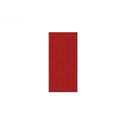 System-Schlitzplatte BxHxT 450x1000x18 mm, Aus 1,25 mm Stahlblech, kunststoffbeschichtet in verkehrsrot
