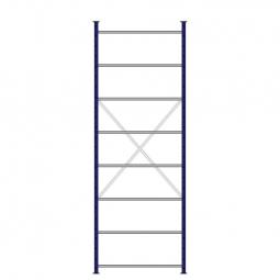 Ordner-Steck-Grundregal, doppelseitige Ausführung, HxBxT 3000x1070x630(2x315) mm, Oberfläche kunststoffbeschichtet