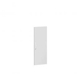 Flügeltür FLEX für 3 Ordnerhöhen, lichtgrau, Breite 400 mm, mit Metallscharnieren und Türdämpfern