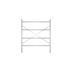 Aluminiumregal mit 4 geschlossenen Regalböden, Stecksystem, BxTxH 1400 x 600 x 1600 mm, Nutztiefe 540 mm aus Aluminium