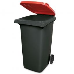 240 Liter MGB, Müllbehälter in anthrazit mit rotem Deckel