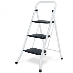 Klapptritt-Leiter aus Stahl mit 3 Stufen, Arbeitshöhe bis 2684 mm, Standhöhe 684 mm, Tragkraft bis 150 kg