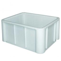 Schwerlast-Eurobehälter, LxBxH 800 x 600 x 420 mm, weiß, verrippter Boden