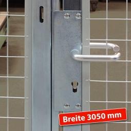 Maschinenschutz-Schiebetür, Türbreite 3050 mm, Öffnungsmaß 3000 mm