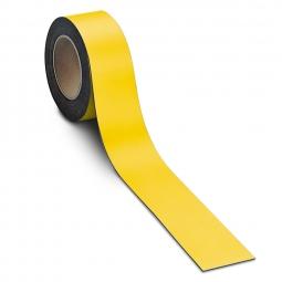 Magnetschilder, 10 m Rolle, Höhe: 40 mm, gelb, Materialstärke: 0,9 mm, für alle magnetischen Untergründe