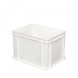 Eurobehälter mit 2 Griffleisten, LxBxH 400 x 300 x 270 mm, 26 Liter, weiß