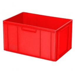 Eurobehälter mit 2 Griffleisten, LxBxH 600 x 400 x 320 mm, 63 Liter, rot