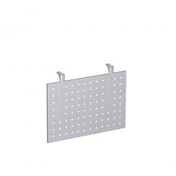 Knieraumblende für Volleck-Platte, aus Stahlblech, gelocht, Höhe 400 mm, Farbe silber