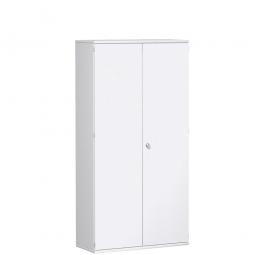 Garderobenschrank PRO, weiß, BxTxH 1000x425x1920 mm, 5 Fachböden, 1 Kleiderstange