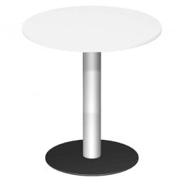 Rundtisch, Tischplatte weiß ØxH 900 x 1100 mm