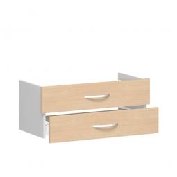 Schubladenset FLEX, Buche, Breite 800 mm, hochwertige Metallgriffe in silbermatt