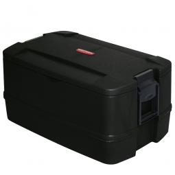 Isolier-Transportbox, BxTxH 750x485x400 mm, 52 Liter, schwarz, Polyethylen- Kunststoff (EPS)