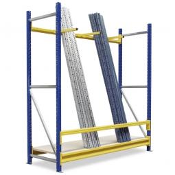 Vertikal-Grundregal mit Unterteilungsarmen, BxTxH 1880 x 600 x 2000 mm, 3 Tragbalken