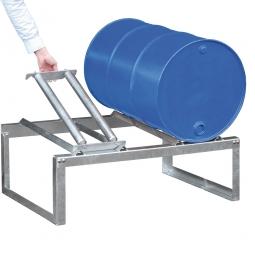 Fassbock, BxTxH 1155 x 775 x 455 mm, zur Lagerung von 2 x 200 Liter Fässern, feuerverzinkt