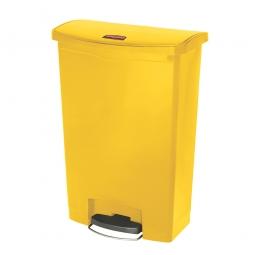 Tretabfalleimer Slim Jim, 90 Liter, gelb, LxBxH 570 x 353 x 826 mm