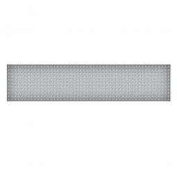 System-Lochplatte, BxH 2000x450 mm, Aus 1,25 mm Stahlblech, kunststoffbeschichtet in lichtgrau