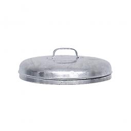 Deckel für Stahl-Mülltonne 100 Liter, Ø 420 mm, feuerverzinkt