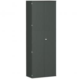 Garderobenschrank PRO, graphit, BxTxH 800x425x2304 mm, 2 Fachböden, 1 Kleiderstange