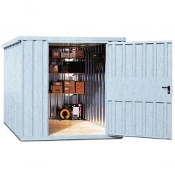Systemcontainer, BxTxH 2350x915x2195 mm, verzinkt, Lieferung aufstellfertig
