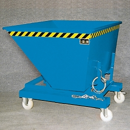 Rollensatz für Kippbehälter, 1350 kg Tragfähigkeit, 2 Lenk- und 2 Bockrollen aus Polyamid, Ø 180 mm (Aufpreis)