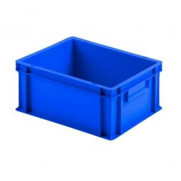 Euro-Geschirrkasten mit 2 Griffleisten, PP, LxBxH 400 x 300 x 175 mm, 16 Liter, blau