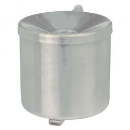 Sicherheits-Wandascher, Inhalt 0,6 Liter, ØxH 90x100 mm, Stahlblech, kunststoffbeschichtet, perlsilber