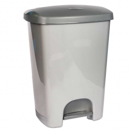 Pedal-Abfallbehälter, 40 L, anthrazit/silber