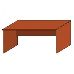 Schreibtisch mit geschlossenen Seitenwangen, Platte Kirsche, BxTxH 1200 x 800 x 720 mm