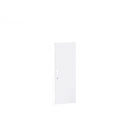 Flügeltür FLEX für 3 Ordnerhöhen, weiß, Breite 400 mm, mit Metallscharnieren und Türdämpfern