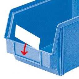 Beschriftungs-Etiketten für Sichtbox CLASSIC CB4, weiß, VE=100 Stück