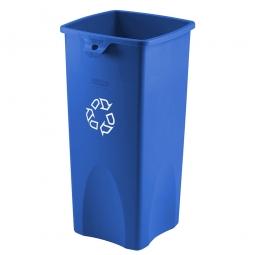 Wertstoffbehälter, rechteckig, 87 Liter, BxTxH 395 x 420 x 790 mm, Farbe blau mit Recycling-Symbol