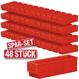 """Regalkasten-Set """"Profi"""", 48-teilig, rot, LxBxH 300 x 91 x 81 mm, Polypropylen-Kunststoff (PP), Gewicht 155 g"""