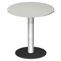 Rundtisch, Tischplatte lichtgrau ØxH 900 x 1100 mm