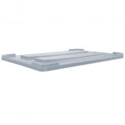 Stapeldeckel für verrippte Palettenboxen, LxB 1170x800 mm, grau