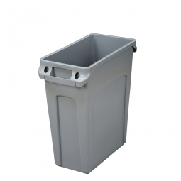 Abfallbehälter mit Lüftungskanälen, 60 Liter, grau, BxTxH 280x510x630 mm, Polyethylen