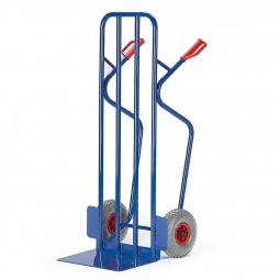 Stahlrohrkarre mit Vollgummibereifung, Höhe 1300 mm, Tragkraft 250 kg