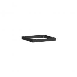Metallsockel, schwarz, BxH 600 x 50 mm