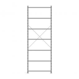 Fachbodenregal Economy mit 7 Böden, Stecksystem, BxTxH 1060 x 435 x 3000 mm, Tragkraft 330 kg/Boden, kunststoffbeschichtet