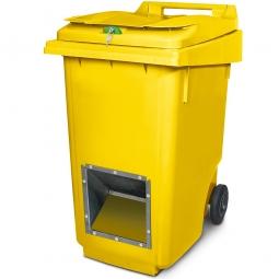 Streugutbehälter mit Entnahmeöffnung und Schließung, gelb, 360 Liter, HxBxT 1100 x 600 x 875 mm
