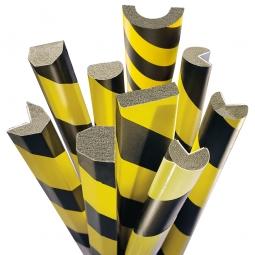 Flächenschutz Kreis, selbstklebend, Profil 40 x 32 mm, Länge: 1000 mm, Farbe gelb/schwarz