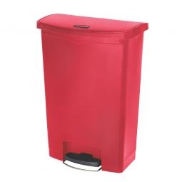 Tretabfalleimer SlimJim, 90 Liter, rot, BxTxH 570x353x826 mm, Polyethylen, Pedal an der Breitseite