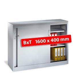 Schiebetürenschrank, 2,5 Ordnerhöhen, BxTxH 1600x400x1000 mm