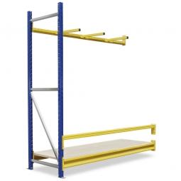 Vertikal-Anbauregal mit Unterteilungsarmen, BxTxH 1840 x 600 x 2000 mm, 3 Tragbalken